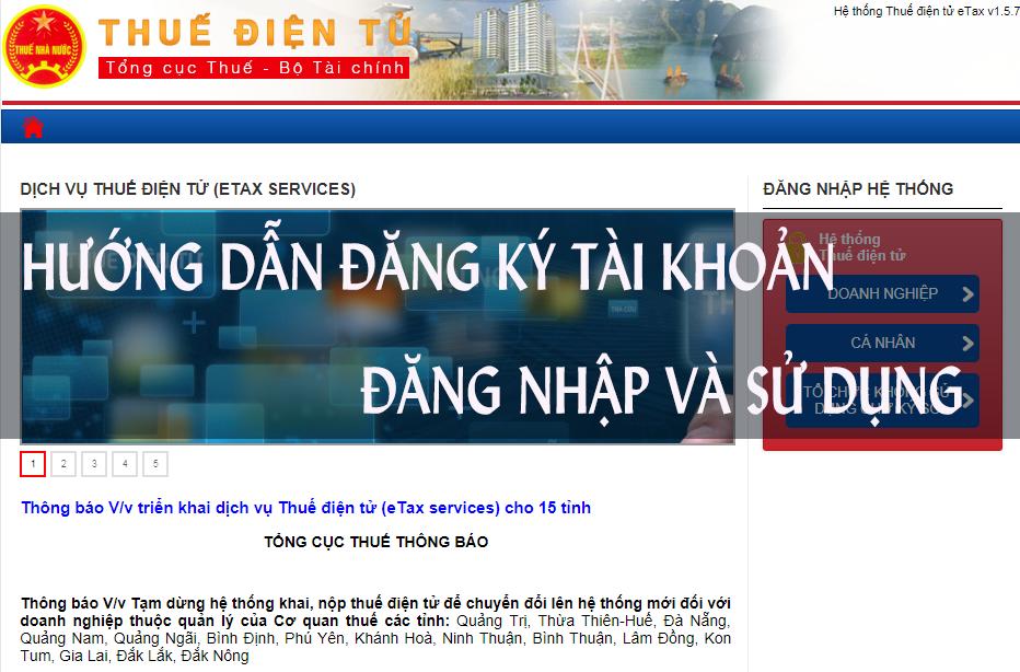 Hướng dẫn đăng nhập sử dụng trang Thuedientu.gdt.gov.vn cho doanh nghiệp và cá nhân chi tiết