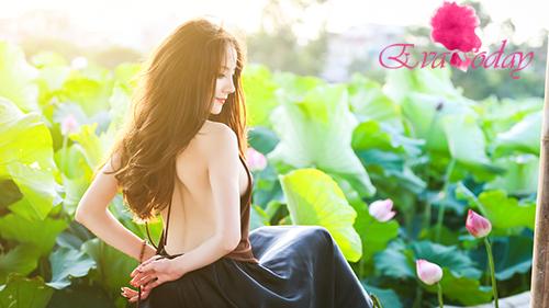 Chụp ảnh áo yếm đầm sen –  Chủ đề chưa bao giờ hết HOT của hội chị em