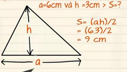 Tổng hợp công thức tính diện tích hình tam giác vuông, cân, đều có ví dụ minh họa