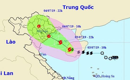 Thông tin diễn biến bão số 2: Gió giật mạnh trên cấp 11, tâm bão hướng vào Hải Phòng