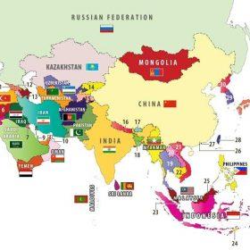 Châu Á có bao nhiêu nước? – Đó là những nước nào và thủ đô của từng nước