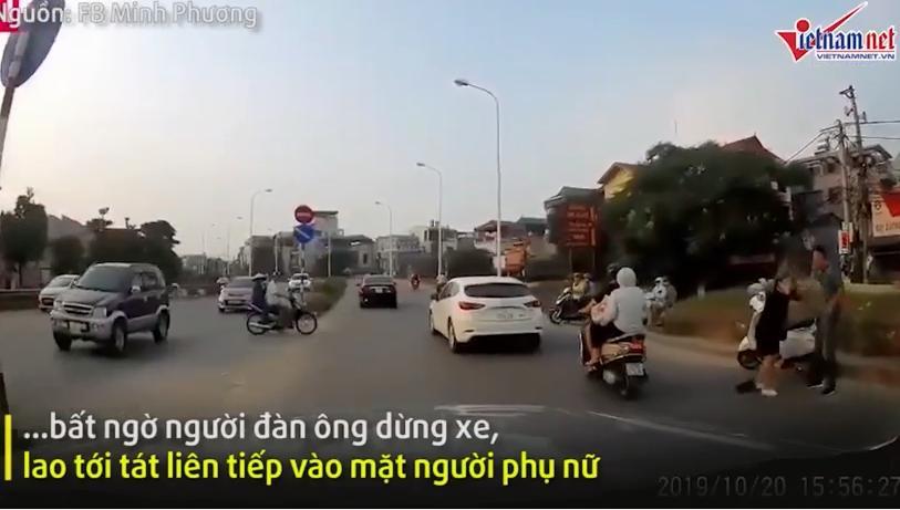 Clip: Gã đàn ông thẳng tay hành hung người phụ nữ đang mang bầu giữa đường