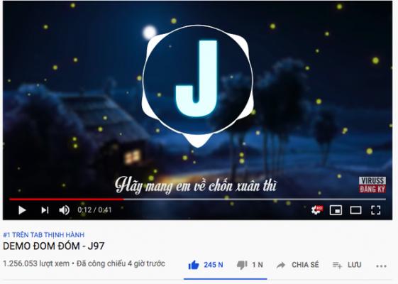 """Jack (J97) lập kỷ lục Top 1 Trending nhanh nhất lịch sử Vpop, vượt Sơn Tùng M-TP sau 4 giờ phát hành bản demo """"Đom Đóm""""!"""
