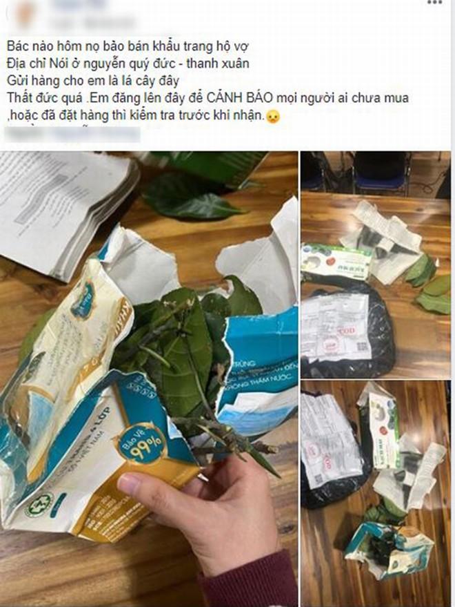 Góc phẫn nộ: Đặt mua khẩu trang 4 lớp chống dịch Corona, nhận được toàn lá cây và giấy lộn
