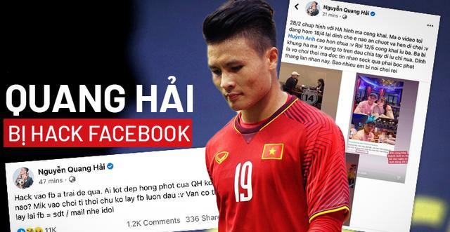 Cầu thủ Quang Hải bị hack facebook, phát tán tin nhắn riêng tư?