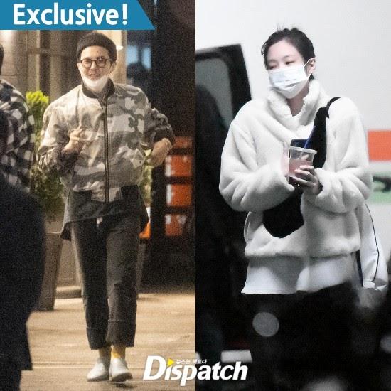 G-Dragon (BIGBANG) và Jennie (BLACKPINK lộ ảnh hẹn hò