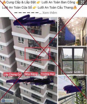 Phẫn nộ hình ảnh bé gái rơi ở chung cư bị lấy để quảng cáo lưới an toàn